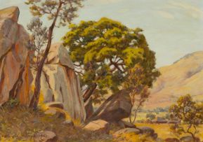Erich Mayer; Landscape with Rock Formation