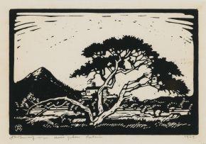 Jacob Hendrik Pierneef; Uniegebou en Doringboom (Union Buildings and Thorn Tree) (Nilant 37)