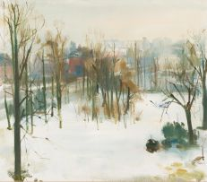 Clement Serneels; Winter Landscape