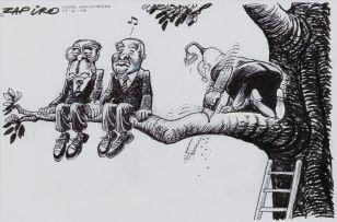 Zapiro (Jonathan Shapiro); Mugabe, Mbeki, Zuma Cartoon