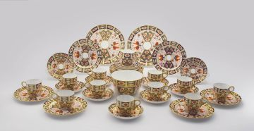 A Crown Derby 'Imari' pattern coffee set, circa 1888