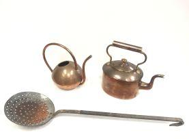 A Cape copper watering can, De Klerk, 20th century