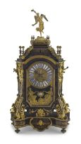 A large French ormolu-mounted boulle marquetry and ebonised bracket clock, circa 1850