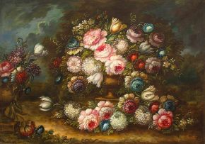 Italian School; Still Life with Flowers