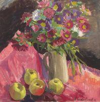 Freida Lock; Spring Flowers and Apples