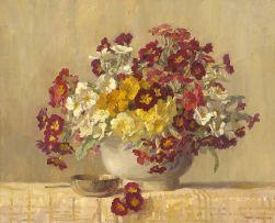 Freda Marston; Flowers in a Vase