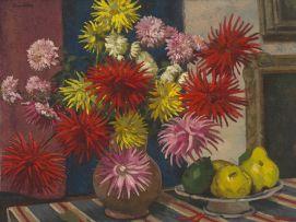 Bertram Walter Dumbleton; Dahlias, Chrysanthemums and Fruit