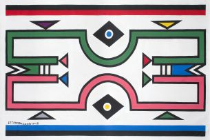 Esther Mahlangu; Ndebele Patterns