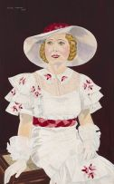 Muriel Rycroft; Portrait of a Woman in a Hat