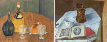 South African School 20th Century; Still Life with Books, a Bowl and a Jug