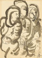 Irma Stern; Three Figures