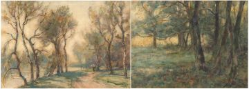 Nathaniel Hughes John Baird; The River; Woodland study, two