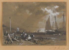 James Duffield Harding; Harbour Scene