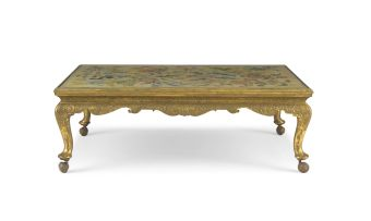 A gilt-gesso low table, 20th century