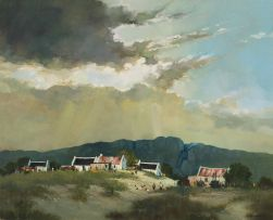 Mel Brigg; Village in Mountain Landscape