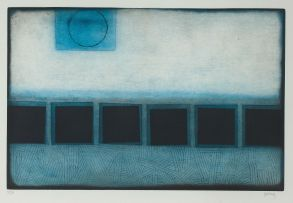 Douglas Portway; Blue and Black Abstract