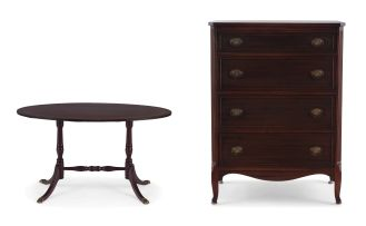 An Edwardian mahogany-veneered chest of drawers