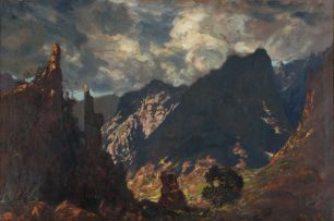 Edward Roworth; Stormy Mountain Landscape