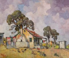Conrad Theys; Labourer's Cottage with Veranda
