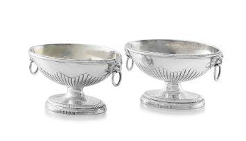 A pair of George III silver salts, Paul Storr, London, 1793
