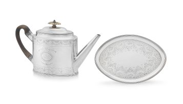 A George III silver teapot, The Batemans, London, 1794