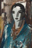 Carl Büchner; Pierrot in White Hat