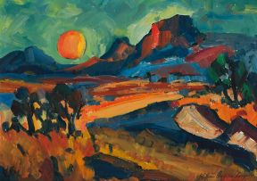 Stefan Ampenberger; Landscape at Sunset