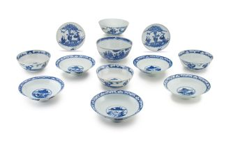 A Chinese provincial blue and white bowl, Qing Dynasty, 19th century