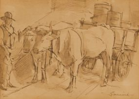 Theodor Franciscus Goedvriend; Ox Cart