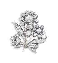 Diamond brooch, 19th century, probably Portuguese