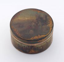 A painted tortoiseshell box, late 18th/early 19th century