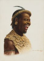 Gerard Bhengu; Portrait of Laughing Man