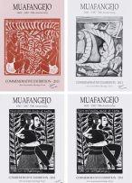 John Muafangejo; Muafangejo 1943–1987 70th Anniversary Commemorative Exhibition 2013, posters, four