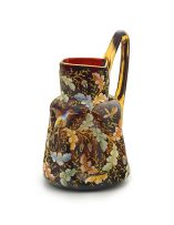 A Bohemian Moser glass and enamelled jug, late 19th century