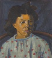 Maggie Laubser; Portrait of a Young Girl