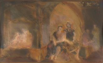 Claire Gavronsky; Figures in an Interior