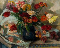 Maud Sumner; Blue Vase