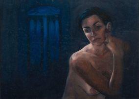 Kerri-Jane Evans; Blue Interior I