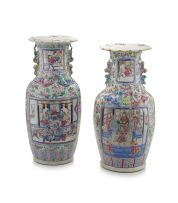 Two Chinese famille-rose vases, Qing Dynasty, 19th century