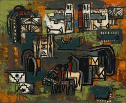 Walter Battiss; Abstract with Ndebele Motifs