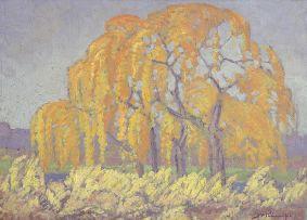 Jacob Hendrik Pierneef; Willow Trees, Pienaarsrivier, Roodeplaat
