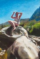 Clare Menck; Nude on a Rock