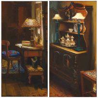 Marié Vermeulen-Breedt; Interiors, a pair