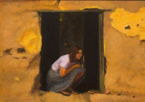 Clare Menck; Crouching Woman