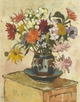 Gregoire Boonzaier; Spring Flowers in a Vase