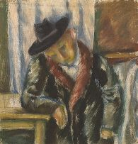 Wolf Kibel; Man Seated at Table