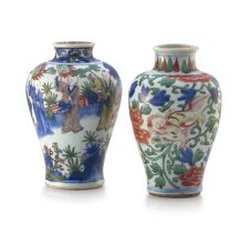 A Chinese wucai vase, Shunzhi, Qing Dynasty, 17th century