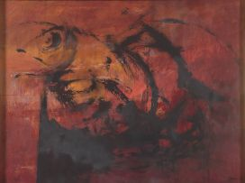 Wim Blom; Abstract in Black and Red