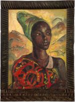 Irma Stern; A Watussi Woman with Mountains
