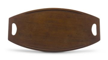 A Danish teak two-handled tray designed in the 1950s by Jens Harald Quistgaard for Dansk Designs